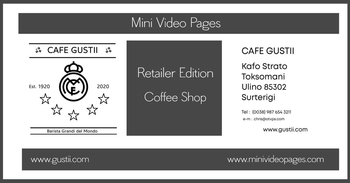 image mini video pages coffee shop link