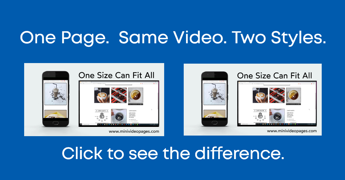 image Mini Video Pages One Page Same Video Two Styles