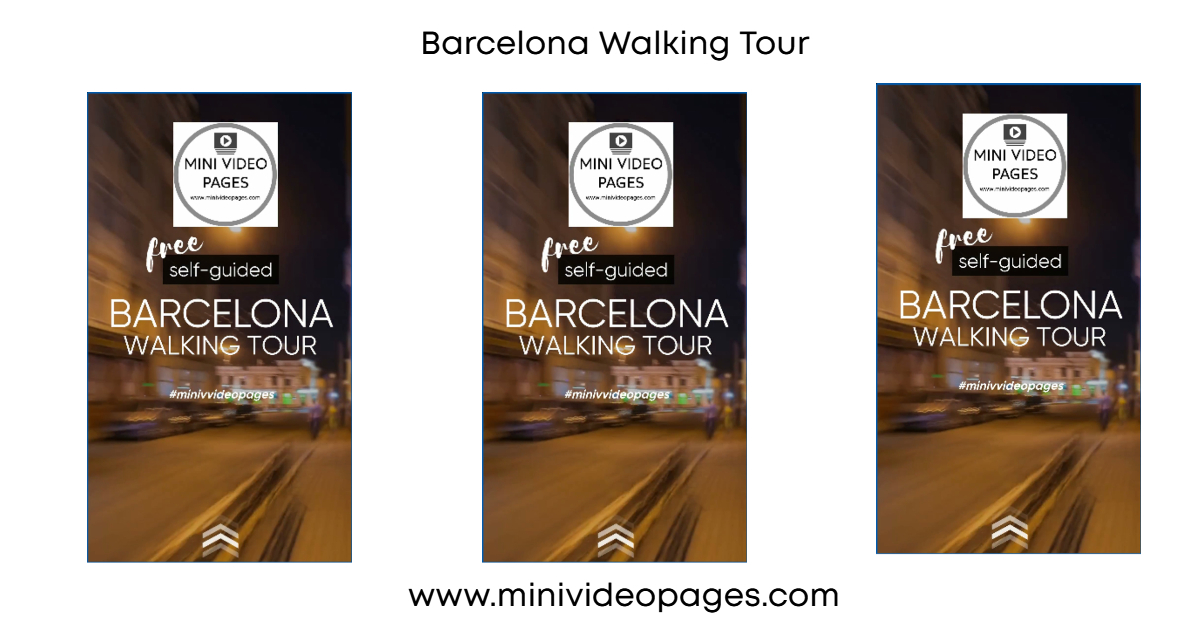 image mini video pages Barcelona Walking Tour Link