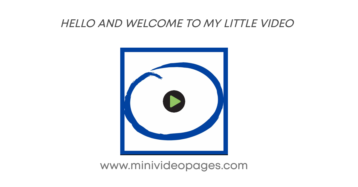 image mini video pages hello and welcome link
