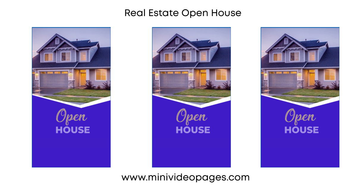 image mini video pages real estate open house short video