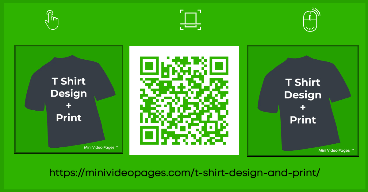 Mini Video Pages T Shirt Design Print Link Post