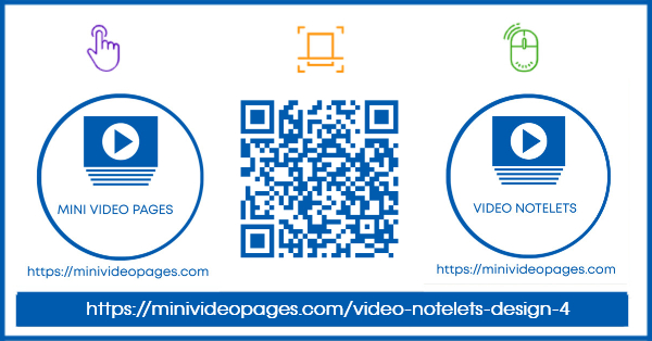 Mini Video Pages Video Notelets Design 4 Link600 X 314