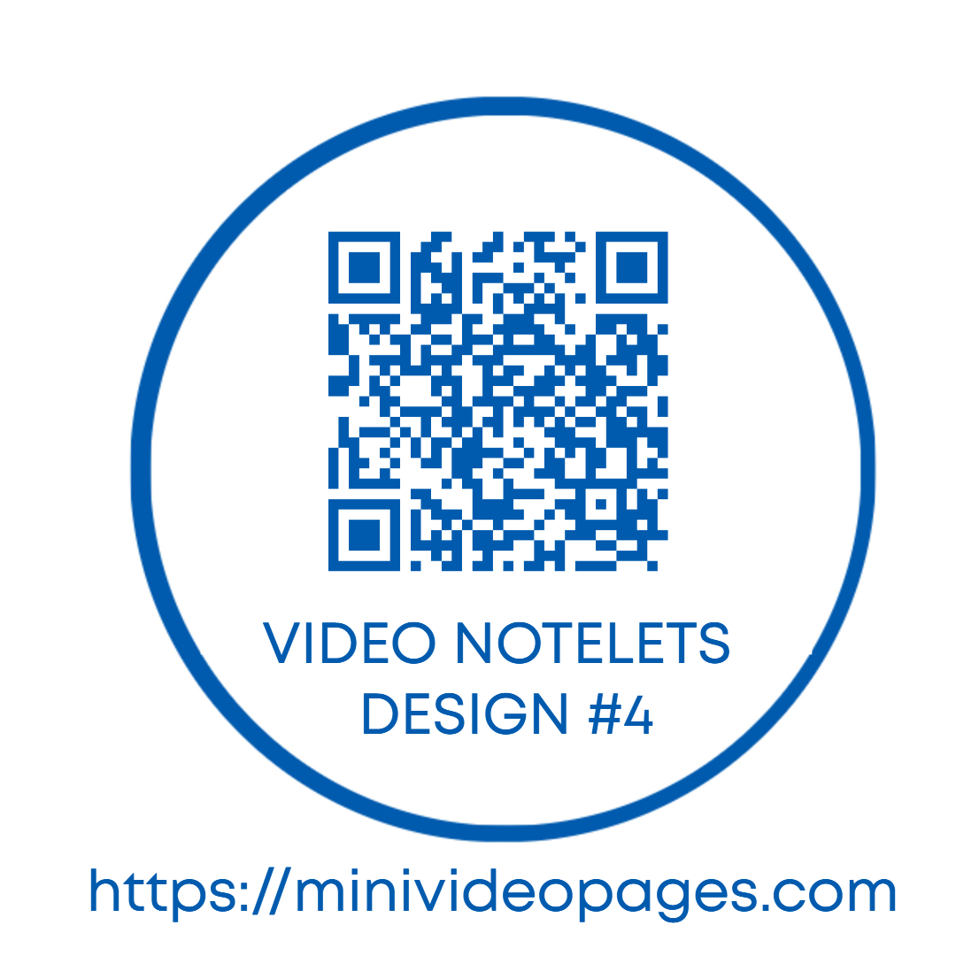 Mini Video Pages Video Notelets Design 4